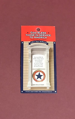 Blue Service Star Pin/God Bless Those in Service to America
