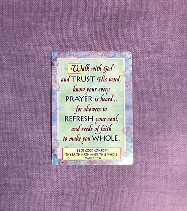 Walk With God Poem Card