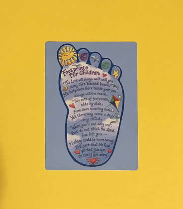 Footprints for Children Poem Card