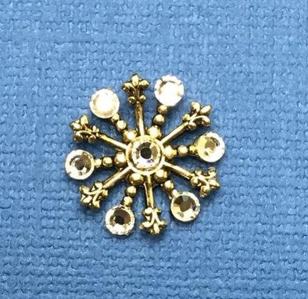 Small Snowflake Pin #844CLEAR