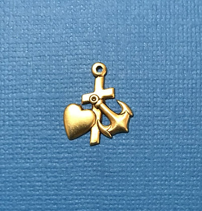 Gold Faith, Hope and Love Charm