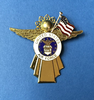 Airforce Angel Pin w/ Flag  #800GWOFLG