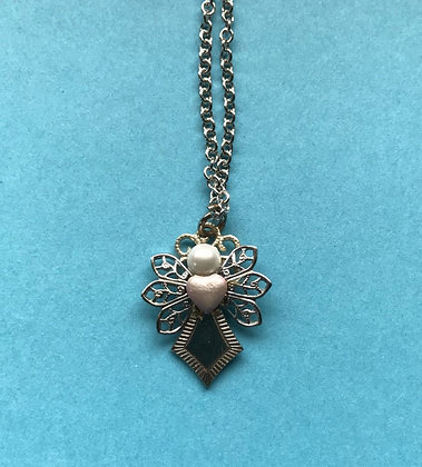 Guardian Angel Necklace #116NPINKHEART