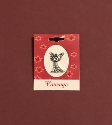 Courage Blessing Angel Pin