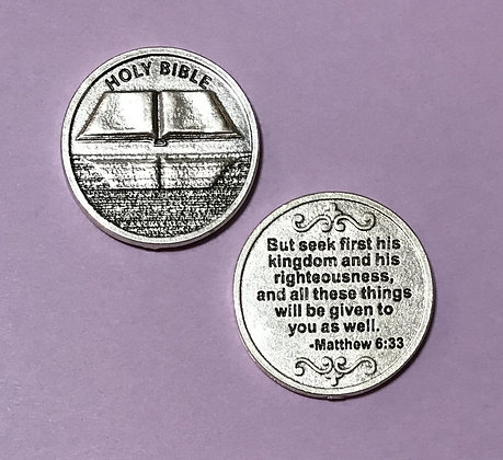 Matthew 6:33 Seek His Kingdom Pocket Token