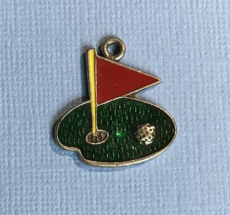 Enameled Golf Charm
