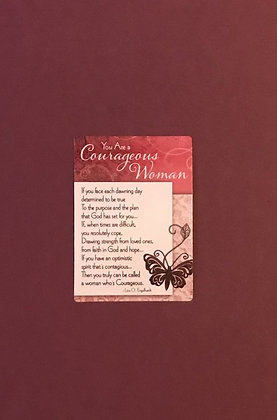 Courageous Woman Poem Card