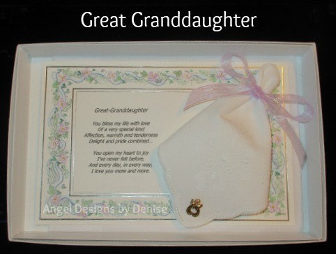 Great Granddaughter Hankie & Angel Pin Gift Set