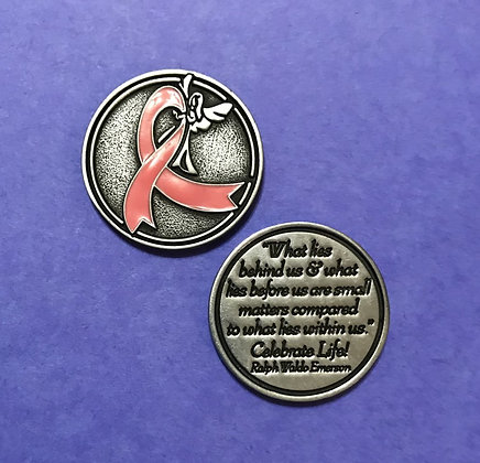 Breast Cancer/Pink Ribbon Token