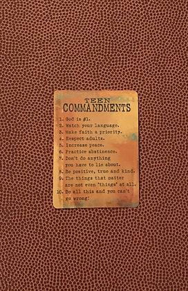 Teen Commandments Poem Card