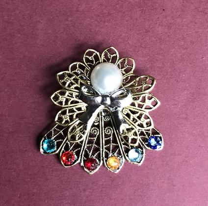 Birthstone Angel Pin (6 stones on skirt) #241