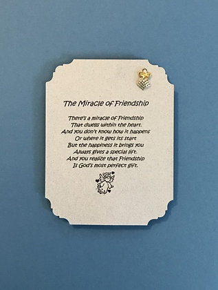 The Miracle of Friendship Angel Pin & Poem #138