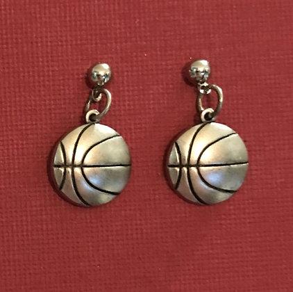 Medium Basketball Earrings