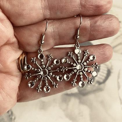 Medium Snowflake Earrings #842ECLEAR