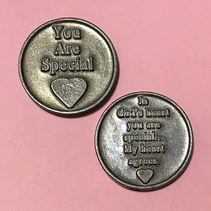 You Are Special Pewter Pocket Token