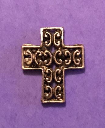 Antiqued Cross Pewter Pocket Token