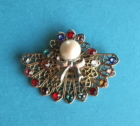 Birthstone Angel Pin (11 stones on skirt) #245