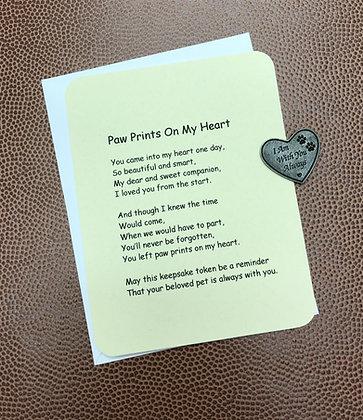 Paw Prints On My Heart Poem & Token Set