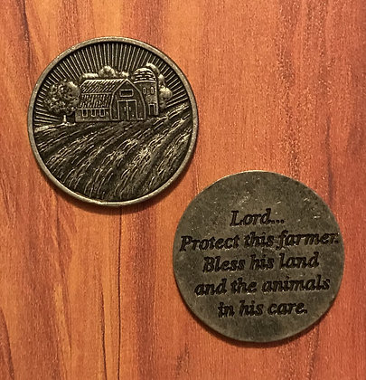 Farmer's Prayer Pocket Token