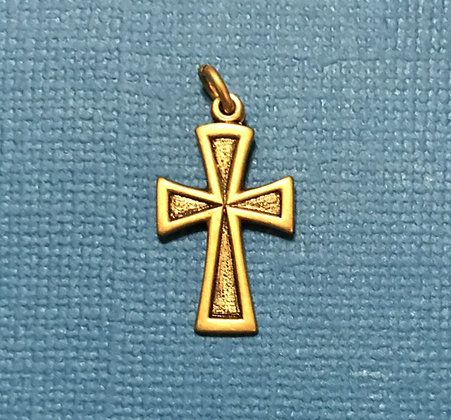 Antique Gold Cross Charm