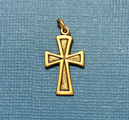 Antique Gold Cross Charm