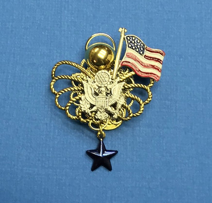 Army Blue Star Mother's Angel Pin #784