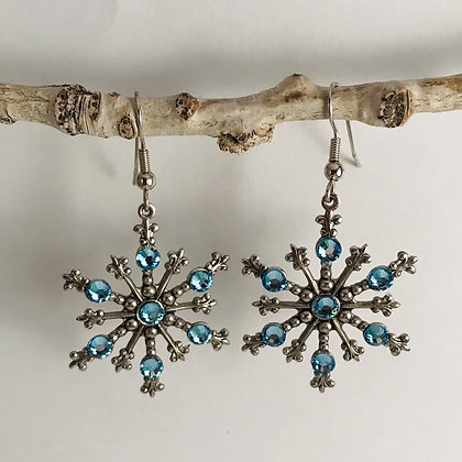 Large Snowflake Earrings #843EAQUA