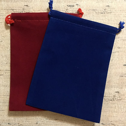 Royal Blue and Red Velveteen Gift Bags