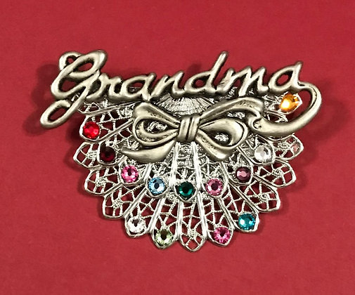 Grandma Double Birthstone PIn