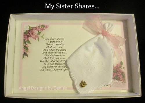 My Sister Shares Hankie & Angel Pin Gift Set