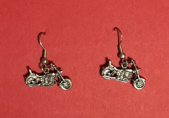 Motorcycle Earrings