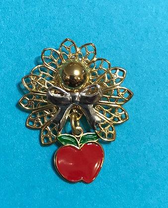 Teacher Apple Angel Pin #483