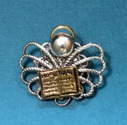 Open Bible Angel Pin #755