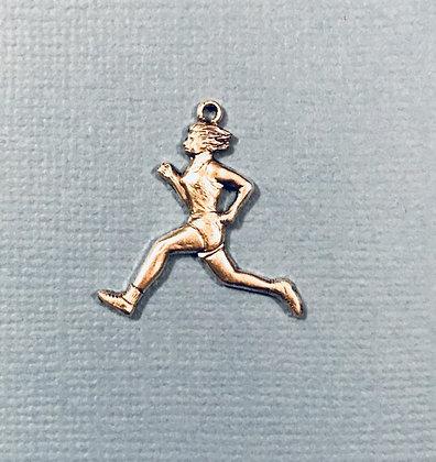 Female Runner Charm