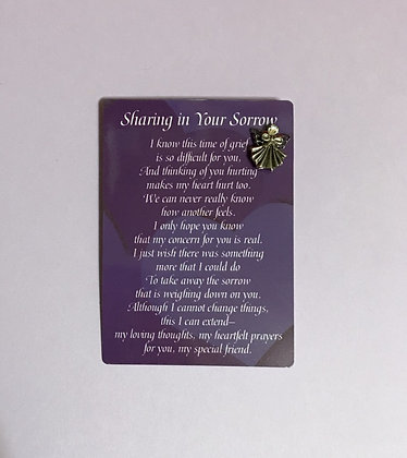 Sharing in Your Sorrow Angel Pin Set #139