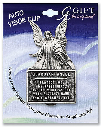 Guardian Angel #3 Visor Clip Front View
