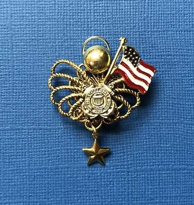 Coast Guard Gold Star Mother's Angel Pin #785