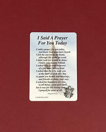 I Said a Prayer For You Today Angel Pin Set #139
