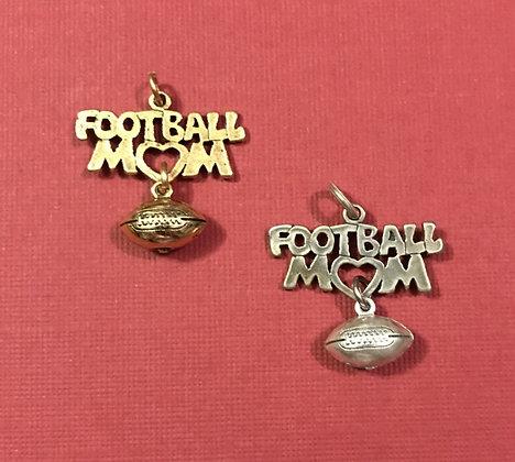 Football Mom Charm with Football