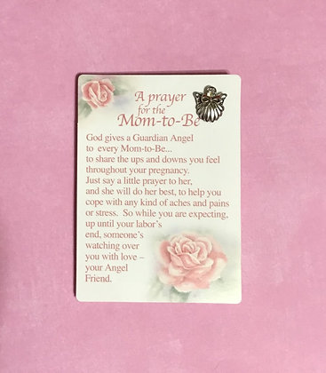 A Prayer for the Mom-to-Be Angel Pin Set #157