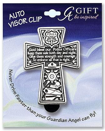 Police Cross Visor Clip