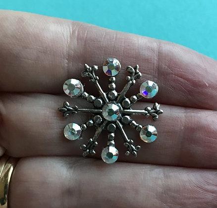 Medium Snowflake Pin #842AB