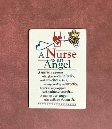 A Nurse is an Angel Pin & Poem Card #139
