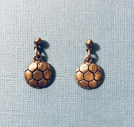 Soccer Ball Earrings (Medium Size)