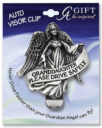 Granddaughter #1 Angel Visor Clip Front View