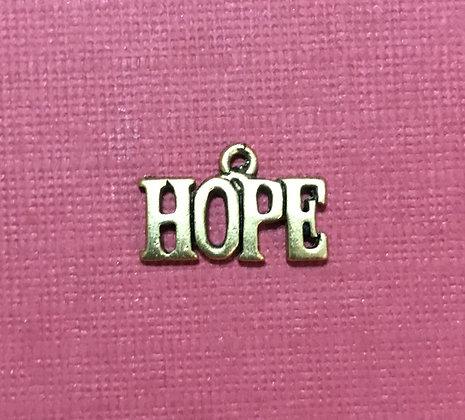 Gold Hope Charm