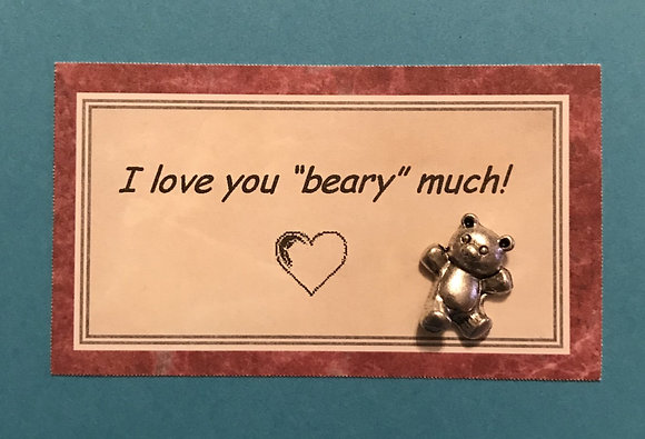 I Love You Beary Much Card and Token Set