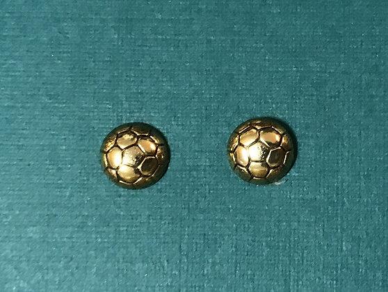 Tiny Soccer Earrings