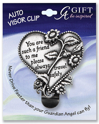 Friend Heart Visor Clip