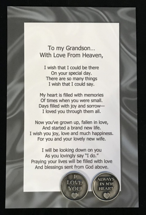 are you looking for a gift to give to the groom from his deceased grandfather this is the perfect gift this gift includes some words of love and a